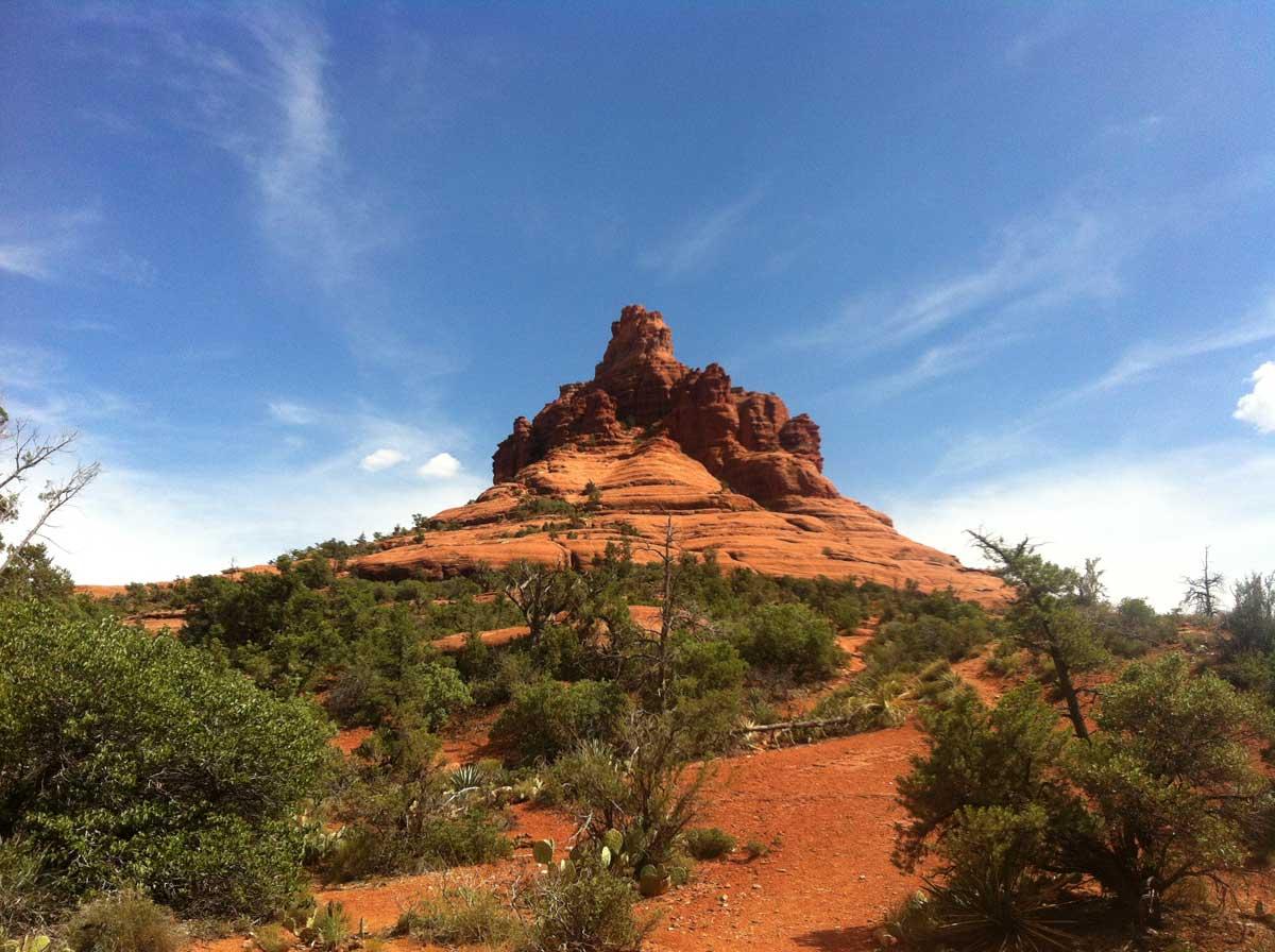 Magic Bell Rock Vortex in Sedona Arizona strahlt kräftige magische Erdenergie aus